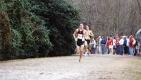John Handley\'s Bobby Lockhart leads the race with Matt Debole of North Carolina trailing