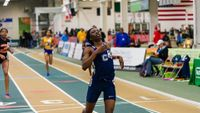 """Tamara Clark runs 37.81 to win the North Carolina state title for 300m; her mark is the sixth-fastest all-time in prep history.<a href=""""http://nc.milesplit.com/meets/256478/photos#.WKSmrhIrKfU""""> <td><font color=""""blue"""">More NC state meet photos"""