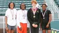 Girls Triple Jump - Medal Winners