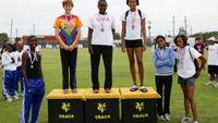 Girls 100m Hurdles - Medal Winners