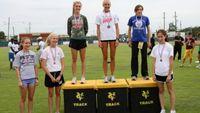 Girls Mile Run - Medal Winners