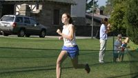 side). Western Albemarle\'s Jessica Fanning heads to the shoot with the girls Varsity A varsity championship.