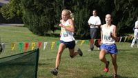 In a horserace, Western Albemarle\'s Jessica Fanning on the right barely out sprints St Catherine\'s Katie Doswell for 4th and 5th.
