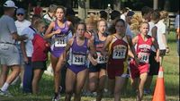 1000 meters into the race, five runners find themselves in the mix with Princess Anne freshmen Alana Winsper, Warwick senior Megan Lavoie, Norfolk Academy junior Ginna Ellis, James River senior Linsday Traudt, and James River junior Rebecca Ward. This pac