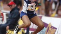 J.R. Tucker sophomore Jasia Richardson competing in the triple jump at Penn Relays